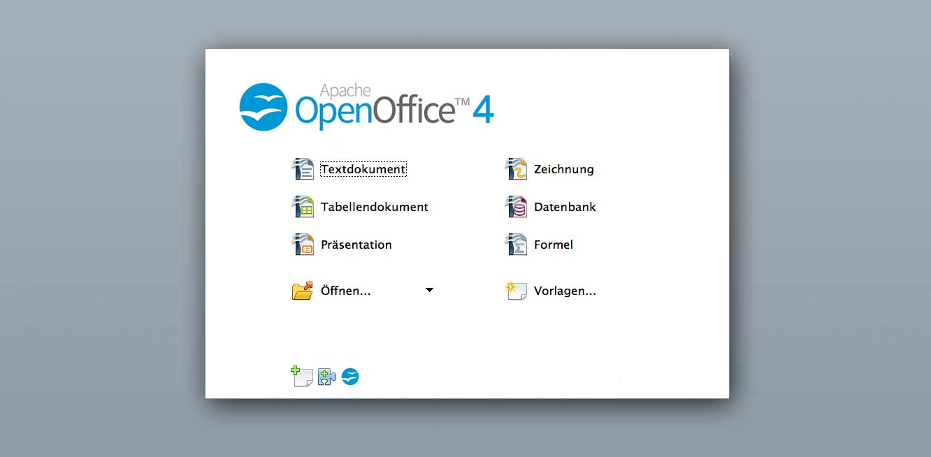 open office öffnen